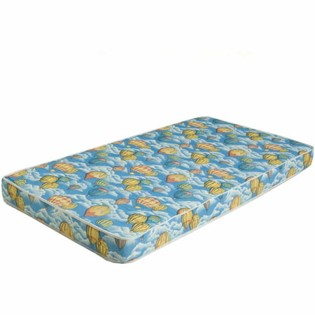 Bunk Bed Or Dorm Firm Comfort Foam Mattress In Balloon Pattern