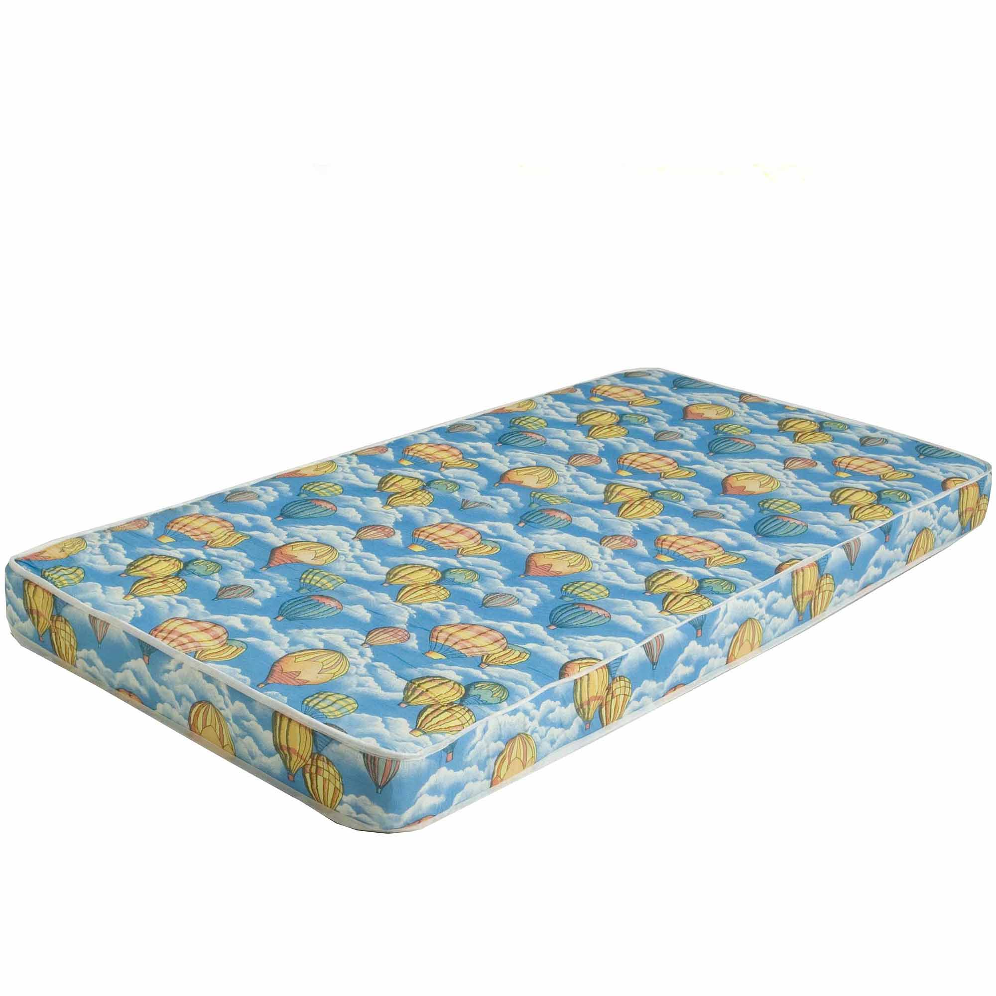 Bunk Bed or Dorm Firm Comfort 5-inch Mattress in Balloon Pattern