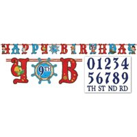 Amscan AMI 121288 Jake and the Neverland Pirates Add an Age Letter Banner, AMI 121288 1, Multicolored