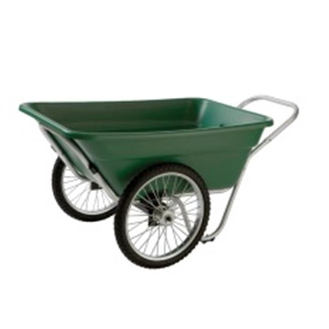 Smart Carts Contractor Grade Cart, 7 Cu. Ft. Tub, With 20 In. Spoke Wheels - Green