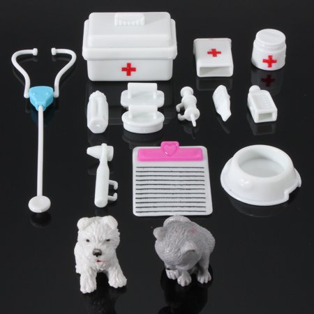 14Pcs Mini Medical Equipment Toys Kids Doctor Kit For Fashion Doll Accessories Set Gift New