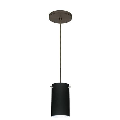 Besa Lighting 1BT-4404MA Stilo 1 Light Cord-Hung Mini Pendant with Magma Glass S