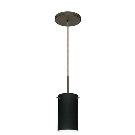 Besa Lighting 1BT-440441 Stilo 1 Light Cord-Hung Mini Pendant with Garnet Glass