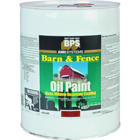 Valspar 18 2121 11 Oil Based Barn And Fence Paint 5 Gal Pail 400 Sq Ft Gal Red