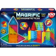 Magrific 100 Piece Multi-color Magnetic Tiles Set