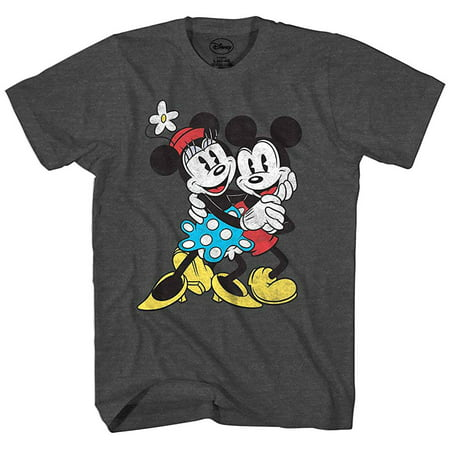 Disney Mickey Minnie Mouse T Shirt Old School Love Men's Cartoon Character 3XL Minnie Mouse Cartoons