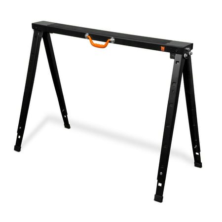 WEN 38-Inch Folding Height Adjustable Steel Saw Horse, 1500-Pound Capacity,