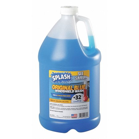 Splash 235826 1 Gal Windshield Washer, 32 F