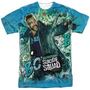 Suicide Squad Boomerang Psychedelic Cartoon Mens Sublimation Shirt