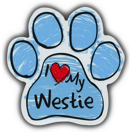 Westie Highland Terrier (Scribble Paw Dog Magnets: I Love My Westie Highland Terrier | For Cars, More )