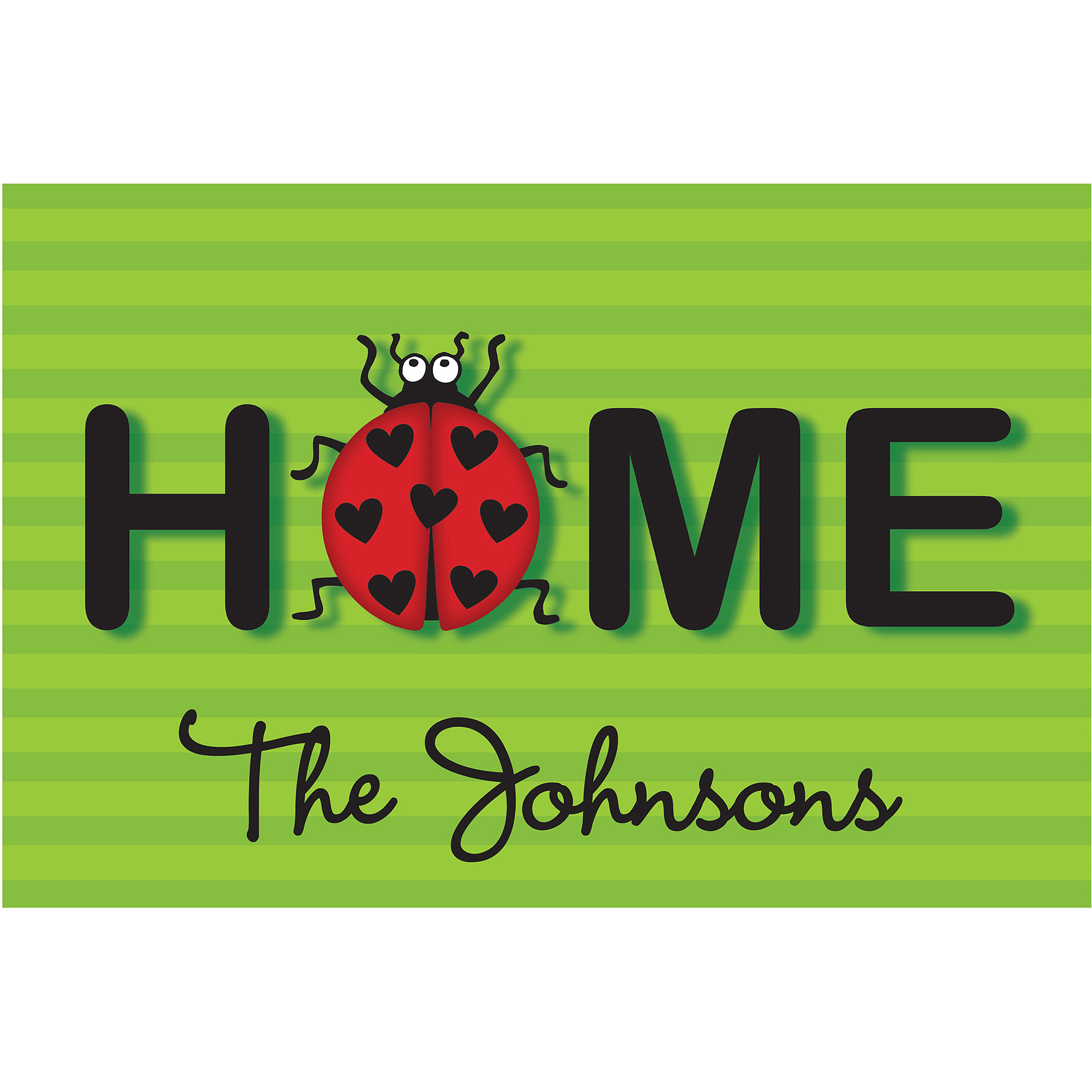 Personalized Ladybug Home Doormat