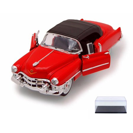 Diecast Car & Display Case Package - 1953 Cadillac Eldorado, Red - Welly 22414 - 1/24 scale Diecast Model Toy Car w/Display Case