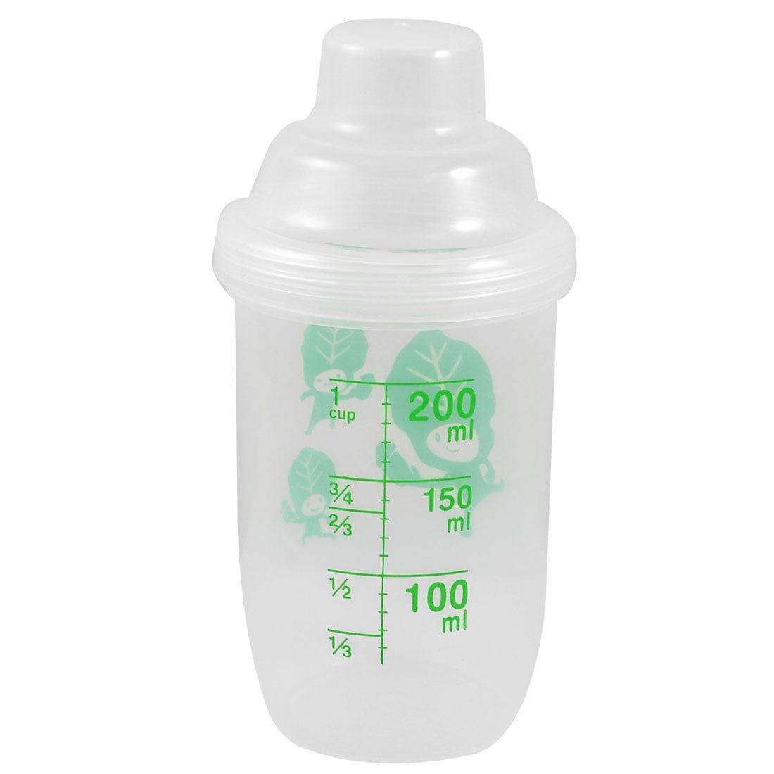 Unique Bargains 200ml Capacity Clear Plastic Round Juice Cup Water Bottle