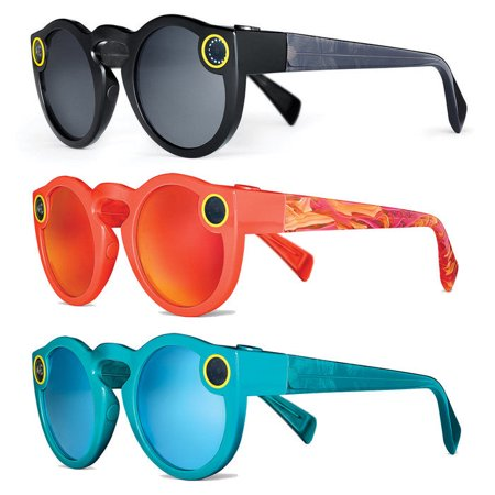 snap inc 817262020307 spectacles sunglasses for snapchat - black