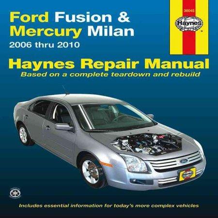 haynes repair manual ford fusion  mercury milan