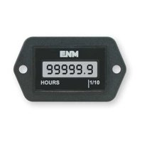 ENM T1120EB Hour Meter,LCD,2-Hole Rectangular