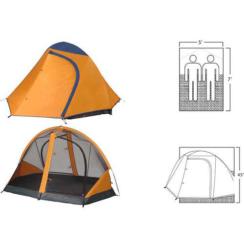 GigaTent Yellowstone 7' x 5' Backpacking Tent, Sleeps 1 - 2