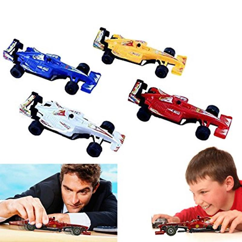 Dazzling Toys Sports Racing Car Pack of 4 Kids Boys Pull-back Toy Racer Car