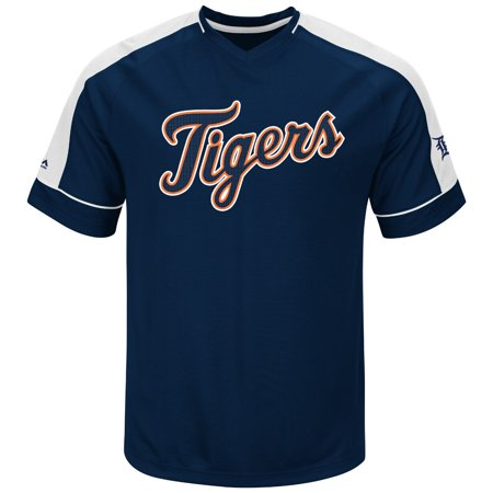 """Detroit Tigers Majestic MLB """"Lead Off Hitter"""" V-Neck Mens Fashion Jersey by"""