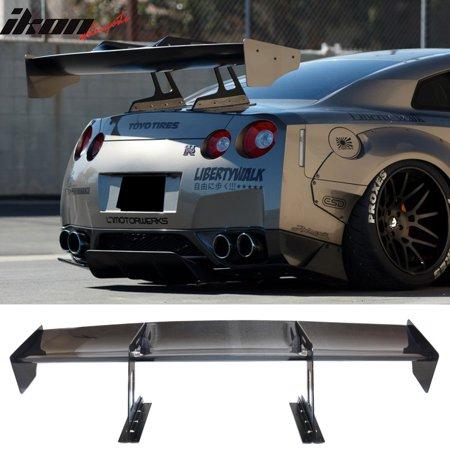 (Fits Nissan GTR GT-R R35 Swan Neck Trunk Wing Spoiler Carbon Fiber)