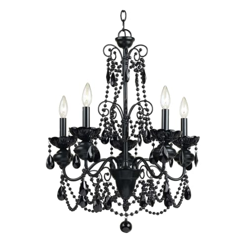 AF Lighting Mischief 5-Light Chandelier in Black