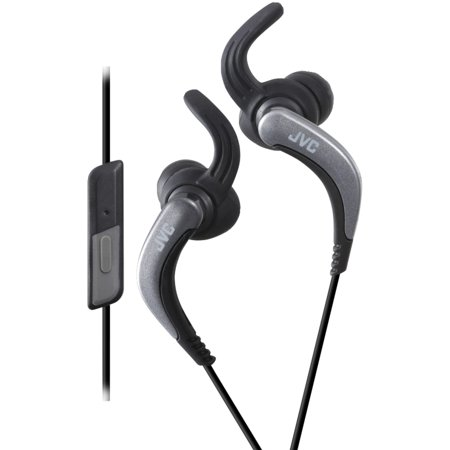 JVC HAETR40B Extreme Fitness Earbuds with Microphone (Black) (Jvc Sportclip Earbud Headphones)