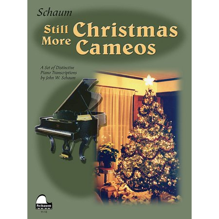 SCHAUM Still More Christmas Cameos (Level 6 Early Advanced Level) Educational Piano Book