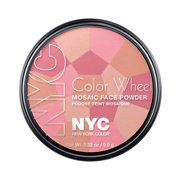 York color wheel mosaic face powder, pink cheek glow, 0.32 ounce