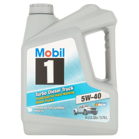 Mobil 1 5W-40 Turbo Diesel Truck Motor Oil, 1 gal. (Gal Nat Oil)