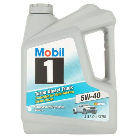 (3 pack) Mobil 1 5W-40 Turbo Diesel Truck Motor Oil, 1 (Quattro Turbo Oil)