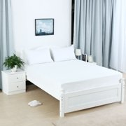 """Brushed Microfiber 15"""" Deep Pocket Fitted Sheet for Bed Mattress White Queen"""