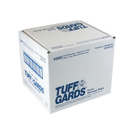 Handgards 304985352 Bag Low Density Poly Roll Pack 8X4X18 .6 Mil 1-1000 Each
