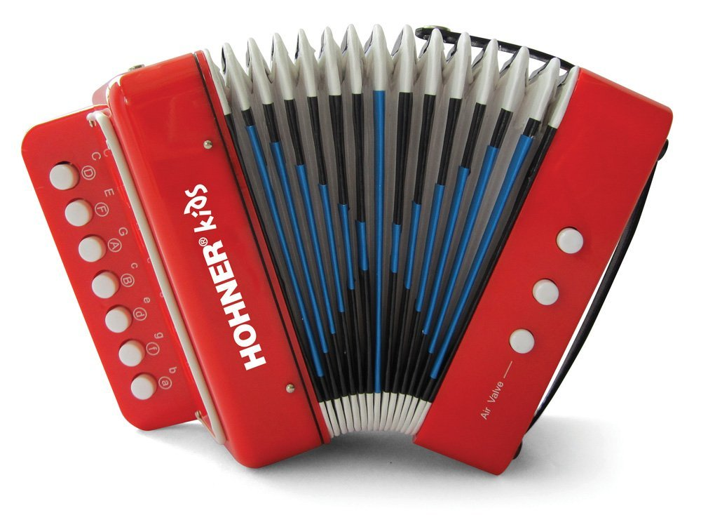 Kids UC102R Musical Toy Accordion Effect, Seven button design along with 2 bass buttons... by