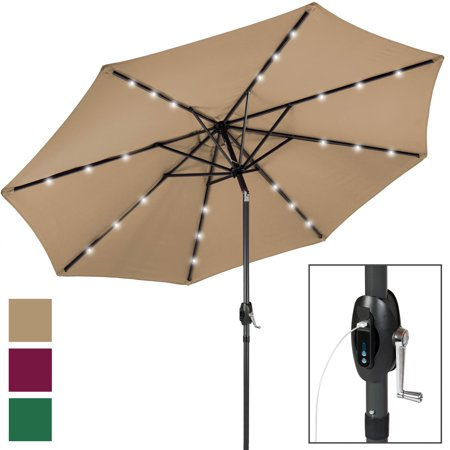 Best Choice Products 10' Solar LED Patio Umbrella w/ USB Charger ()