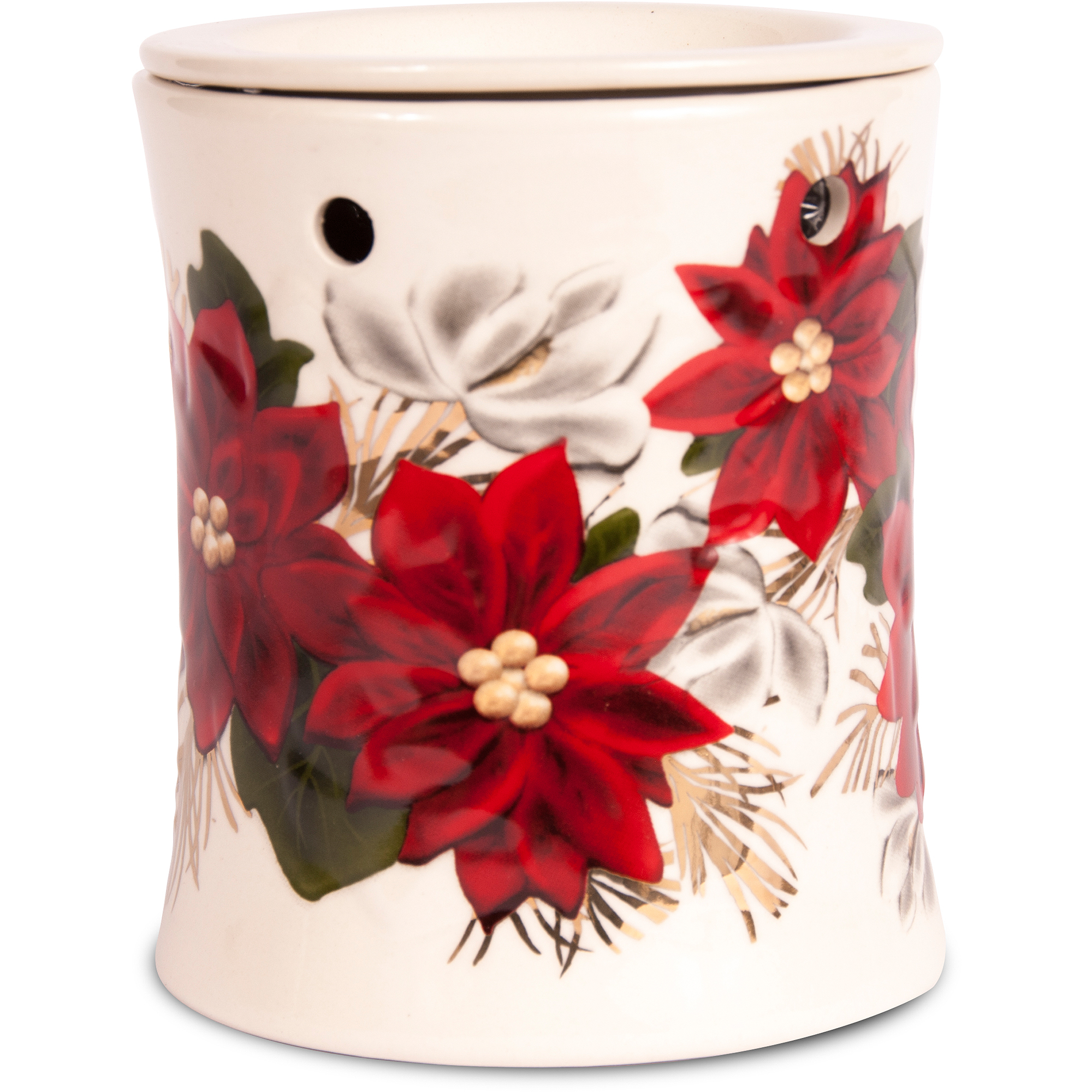 Better Homes and Gardens Full Size Wax Warmer, Embossed Poinsettia