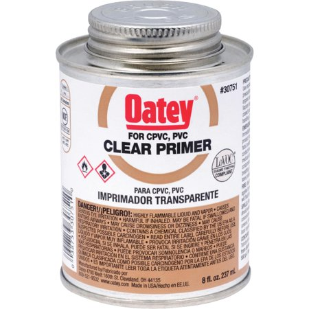 Oatey 8 Oz. Clear Pipe and Fitting Primer for PVC/CPVC  30751