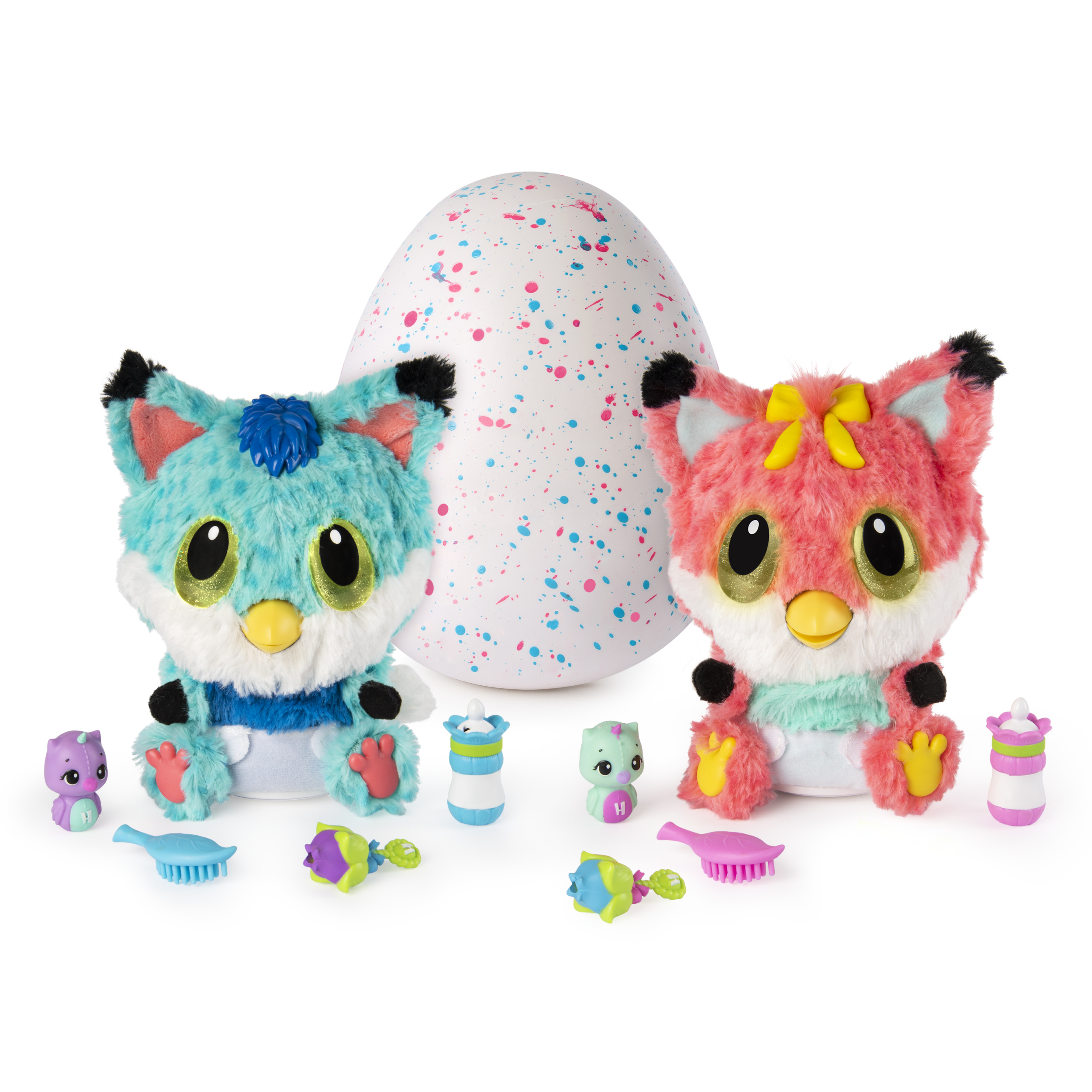 Hatchimals, HatchiBabies Foxfin, Hatching Egg with Interactive Toy Pet Baby (Styles May Vary), Walmart Exclusive, for Ages 5 and Up