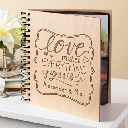 Personalized Love Makes Everything Possible Photo Album