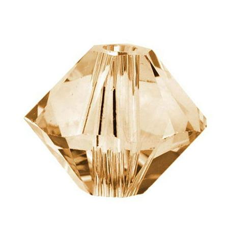 Swarovski Crystal, #5328 Bicone Beads 2.5mm, 20 Pieces, Crystal Golden Shadow