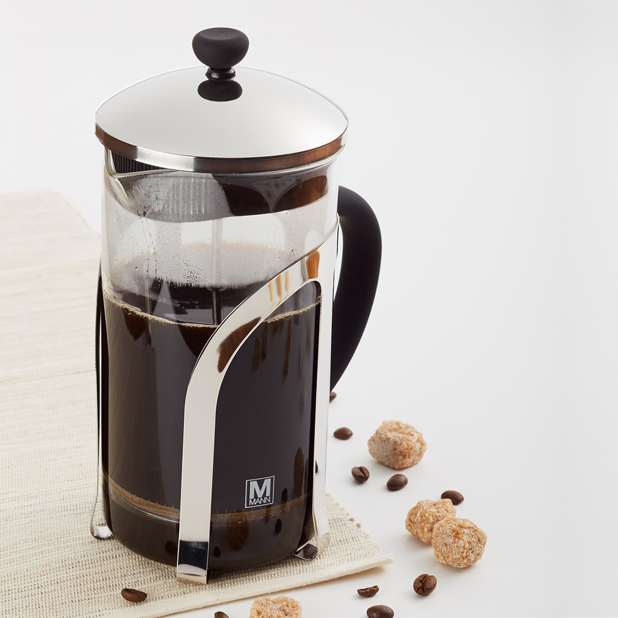 French Press Coffee Maker Percolator Pot,1000ml/1L Clear Superiour Glass,Insulated.Ideal for Tea,Coffee.Superiour Filter Press