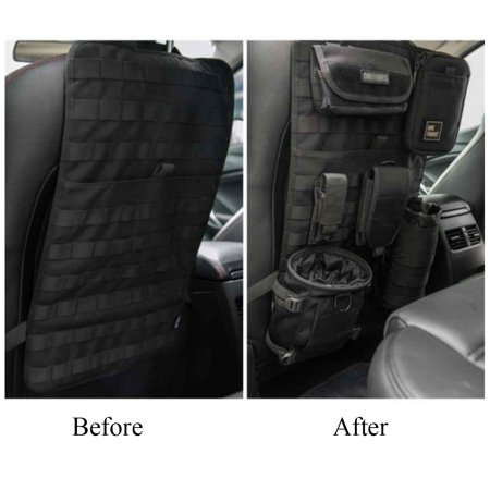 Car Seat Back Organizer Space Saver Tactical Auto Vehicle Panel Cover Storage MOLLE