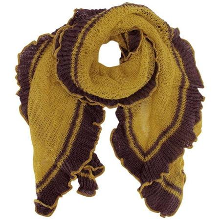 Luxury Divas Thin Crochet Ruffle Knit Scarf Walmart Com