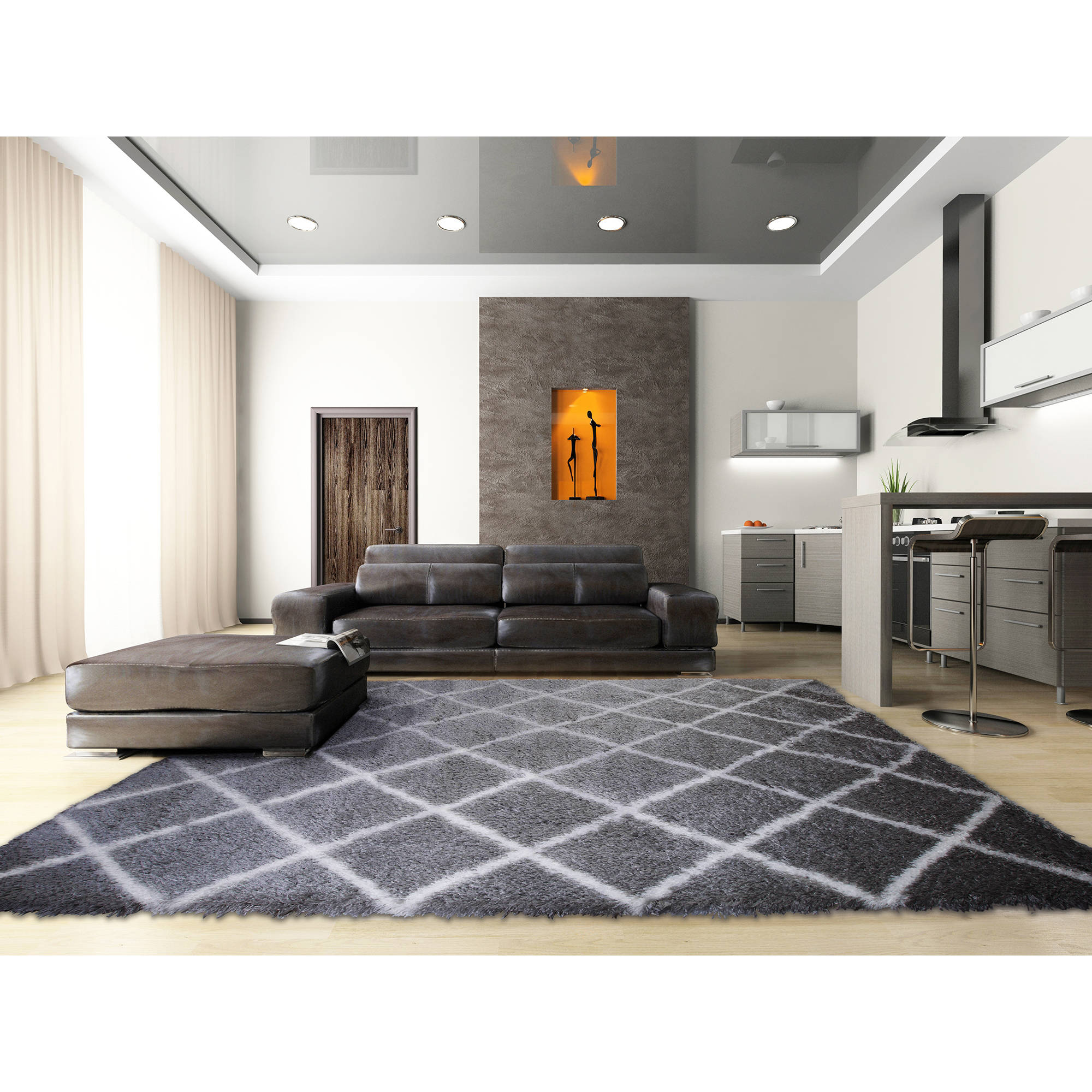Home dynamix carmela collection plush microfiber shag area rug home dynamix carmela collection plush microfiber shag area rug walmart dailygadgetfo Gallery