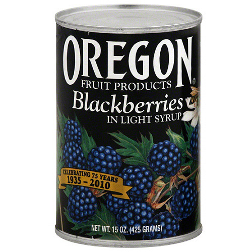 Oregon Fruit Products Blackberries In Light Syrup, 15 oz (Pack of 8)