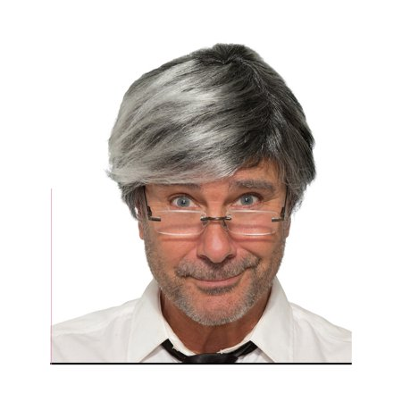 Gray Old Man Adult Halloween Costume Accessory Wig - Man With Wig