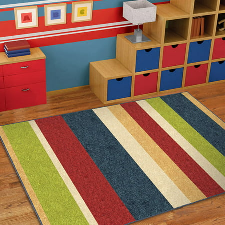 Orian Simple Stripe Fun Kids Area Rug Walmart Com