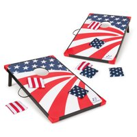 EastPoint Sports Stars and Stripes Cornhole, Bean Bag Toss Game Set; Reinforced Edges and Corners; Bags Glide on Easy-Slide Surface; Boards Attach Together for Transport; Includes 8 Bean Bags
