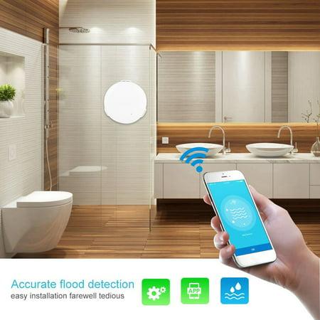 Rdeghly WiFi Wireless Smart Water Leakage Sensor Flood Leak Detector Alarm Alert Home Security, Water Level Sensor, Water Leakage Sensor - image 8 of 8