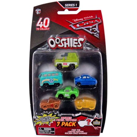Doc Hudson Accessories - Disney / Pixar Ooshies Series 1 Roscoe, Fillmore, Doc Hudson, Chick Hicks, Muddy McQueen & Translucent Cruz Ramirez 7-Pack