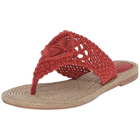 Mia Womens Nefeli Crochet Thong Flip-Flops Red 6.5 Medium (B,M)